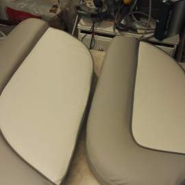 Custommade upholstered seats for a boat