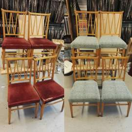 Diningchairs before and after