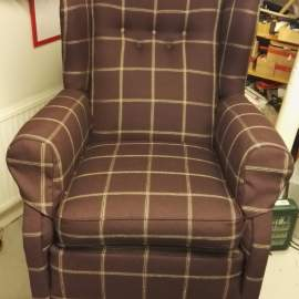 Wingback now in fabric from Sanderson