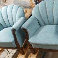 Piped-back chairs in fabric from Romo