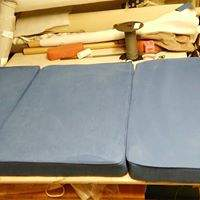 Reupholstered matrasses for a boat