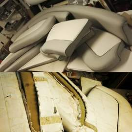 Boatseats before and after