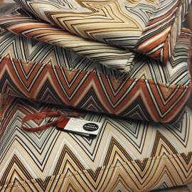 Pillows reupholstered with fabric from Missonihome
