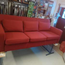 Artek sofa recovered in beautiful woolfabric Hallingdal 65